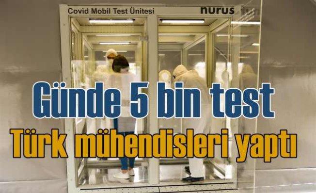 Türk mühendisleri koronavirüs test kabini geliştirdi