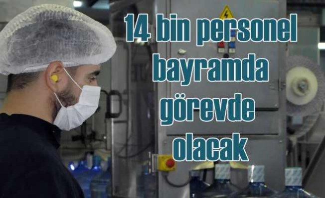 İBB Bayram süresince 14 bin personelle iş başında