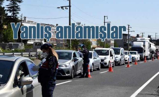 İstanbul'dan yola çıkan yazlıkçılar geri dönderildi