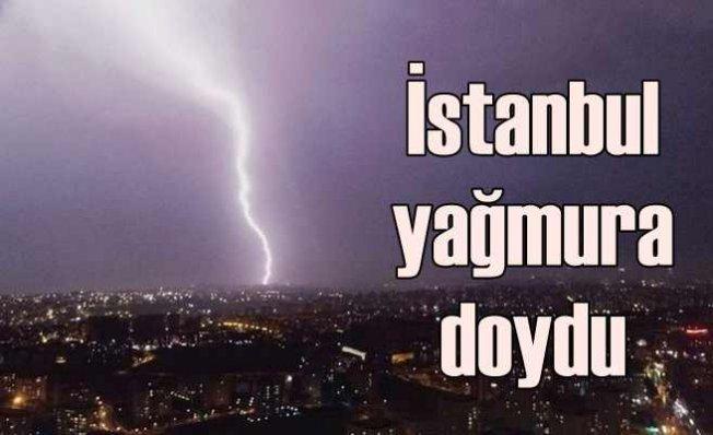 Marmara Bölgesi'ne bereket yağdı | Şimşekler İstanbul'u aydınlattı