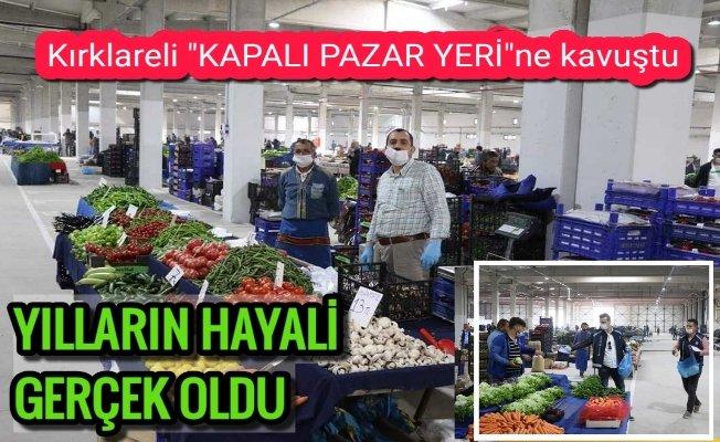 Trakya'nın en büyük pazarı alışverişe açıldı