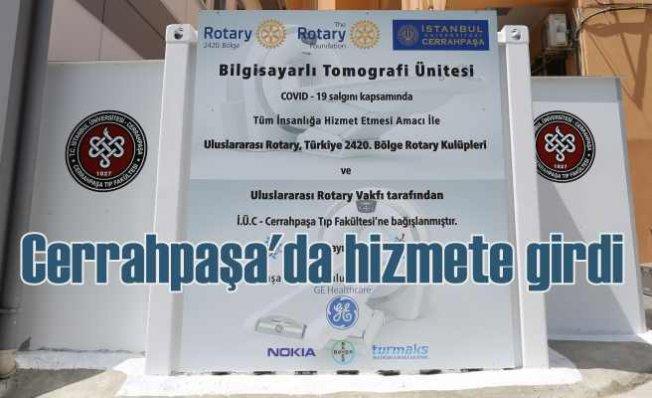 """Türkiye'nin ilk """"Konteyner Bilgisayarlı Tomografi"""" sistemi Cerrahpaşa'da"""