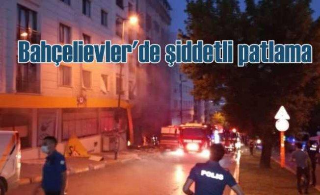 Bahçelievler'de patlama | İki binna birbirinden ayrıldı