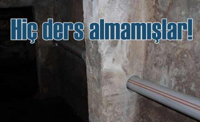 Bina kolonlarını delmişler | Deprem bölgesinde akıllara zarar uygulama