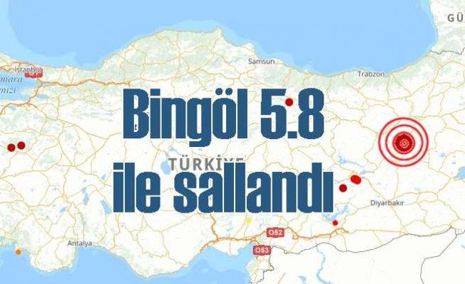 Bingöl'de deprem | Karlıova 5.8 ile sallandı