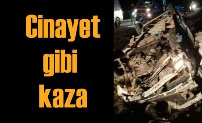 Cinayet gibi kaza | Minibüse 41 göçmeni adeta istiflemişler