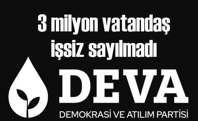 DEVA Partisi | TÜİK'in Verileri İşsizlik Sorununu Doğru Yansıtmıyor