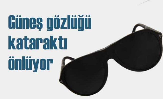 Güneş gözlüğü takmak katarakt oluşumunu önlüyor