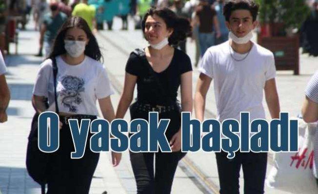 Yasak bugün başladı | Maske takmadan çıkanlara 900 lira ceza