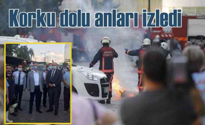 Ankara'da korkutan yangın | Mansur Yavaş dehşet dolu anlara tanık oldu