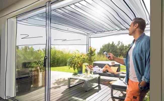 Bahçe keyfine konfor katan teknoloji   Somfy motorlo pergola çözümleri