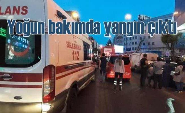 Esenler'de hastanenin yoğun bakım servisinde korkutan yangın