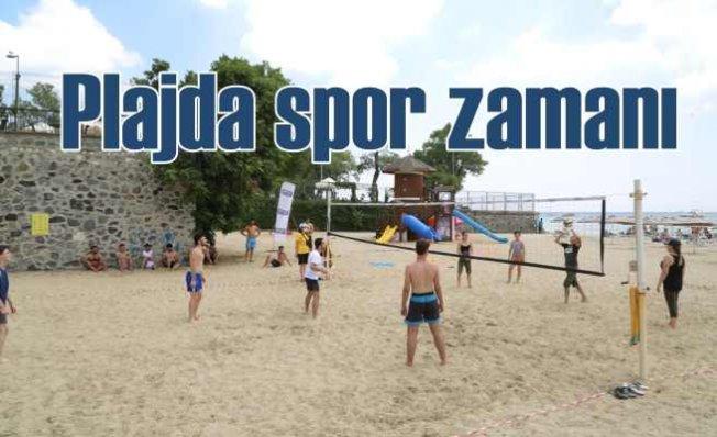 Florya Güneş Plajı'nda spor zamanı