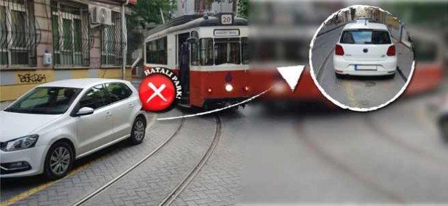 Hatalı park yüzünden tramvay seferleri 160 kez aksadı