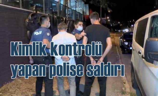 Kimlik kontrolü yapan polise silahlı saldırı
