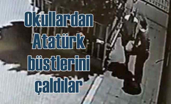 Maskeli hırsızlar 7 okuldan Atatürk büstü çaldı