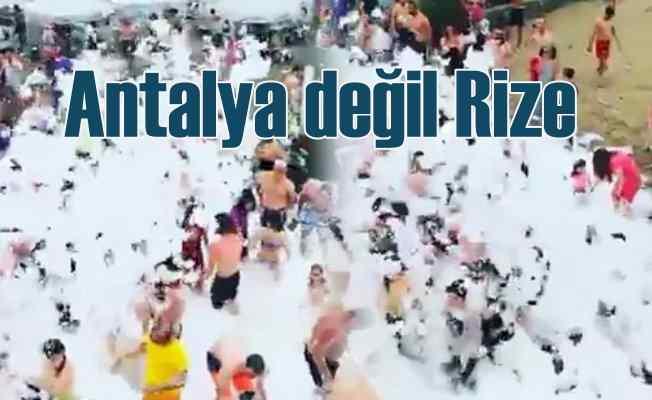 Rize'de köpüklü partiye korona cezası