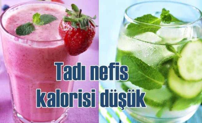 Yazın artan sıvı kaybına dikkat | Düşük kalorili 7 yaz içeceği