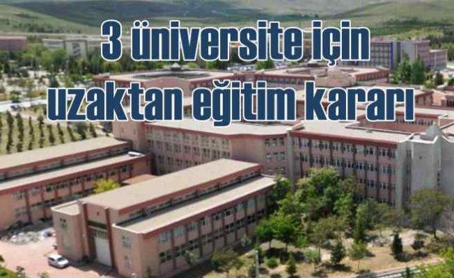 Konya'da 3 üniversiteden uzaktan eğitim kararı