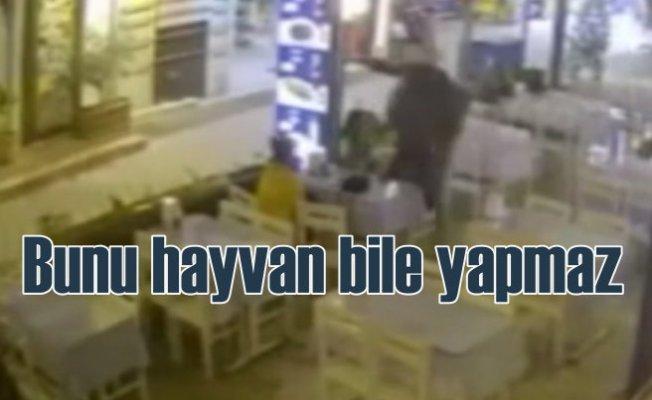 Muğla'da yemek yiyen genç kıza uçan tekmeli saldırı