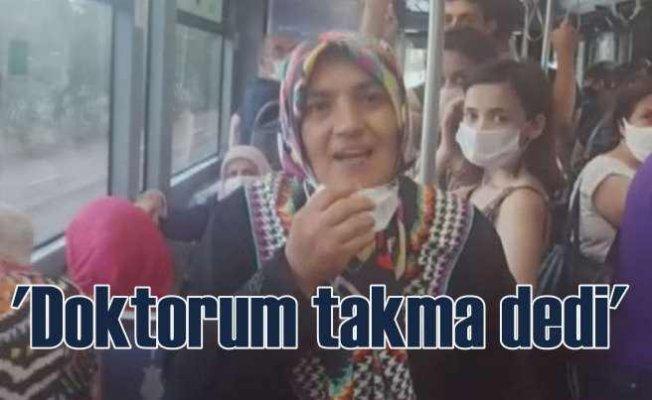 Otobüste maske takmayan kadından ilginç savunma