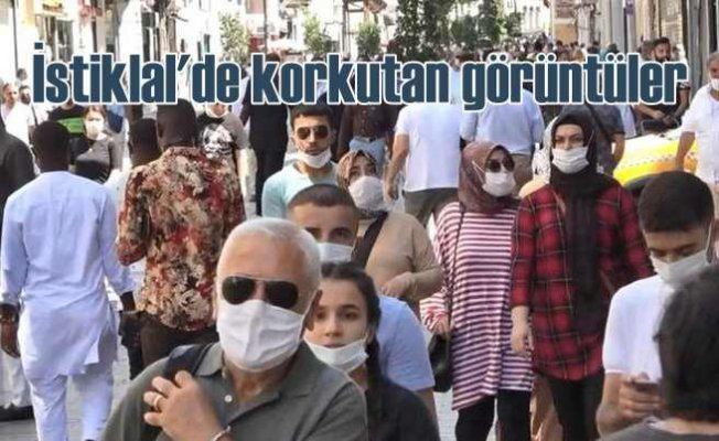 Salgını unuttular | İstiklal Caddesi'nde insan seli