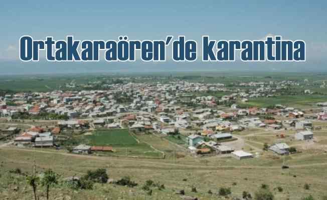 Seydişehir Ortakaraören Mahallesi'ne karantina