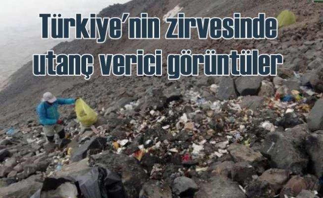 Türkiye'nin zirvesini çöplüğe çevirdiler