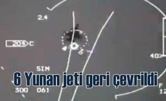 Yunan jetleri havadan geri çevrildi | Oyun kısa sürdü