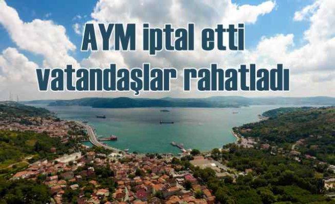 AYM, Boğaz'da mağduriyeti iptal etti