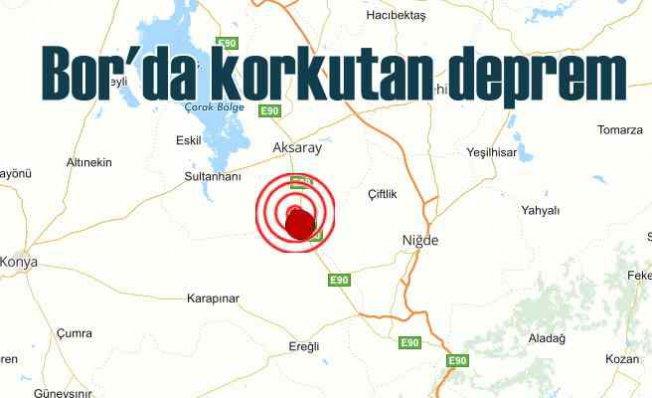 Niğde Bor'da deprem | Bor 5.4 ile sallandı