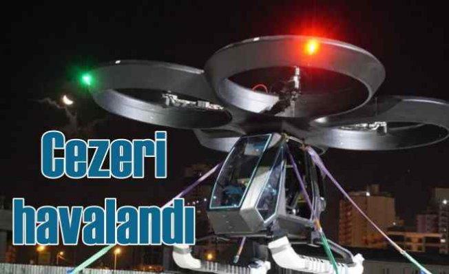 Türkiye'nin ilk uçan otomobili Cezeri havalandı