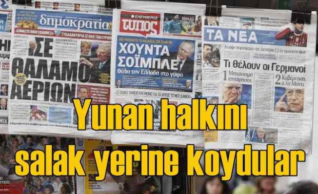 Yunan gazetesi çıldırdı   At yalanı seveyim inananı