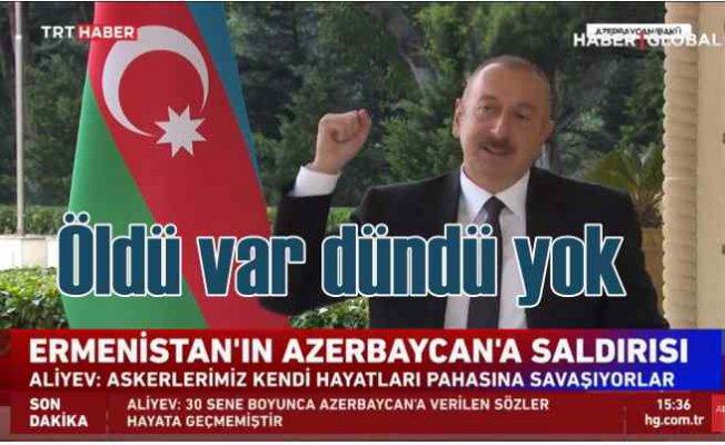 Aliyev | Öldü var döndü yok, Karabağ işgalden kurtarılacak