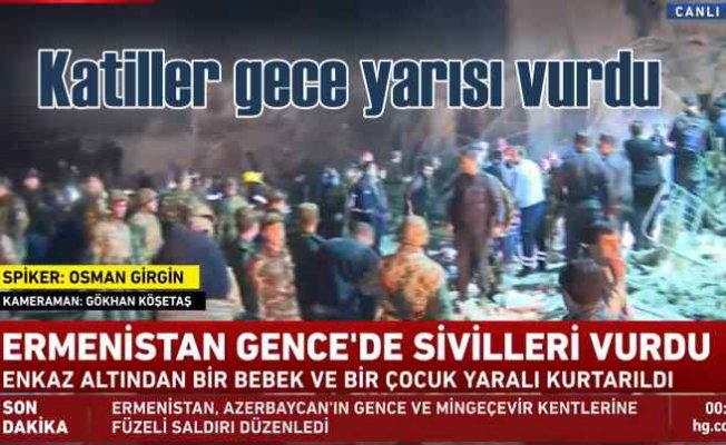 Ermenistan haydutluğu   Gece yarısı Gence'ye katliam saldırısı