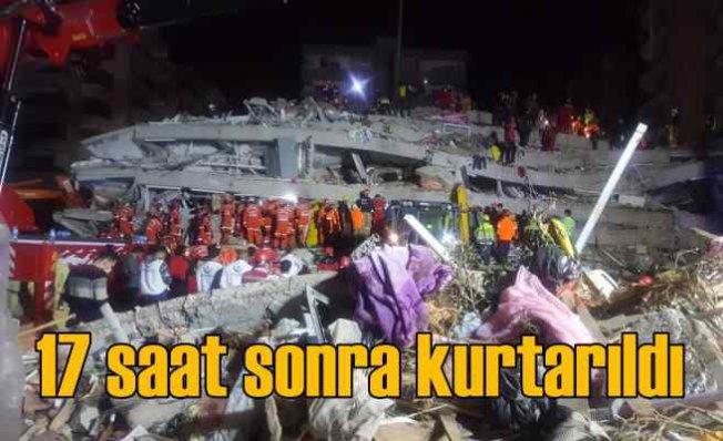 İzmir'de deprem | 17 saat sonra sağ kurtarıldı | 400'den fazla artçı
