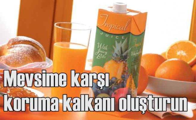 Mevsim hastalıklardan korunmak için portakal suyu tüketin