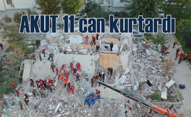 AKUT,deprem enkazı altından 11 can kurtardı