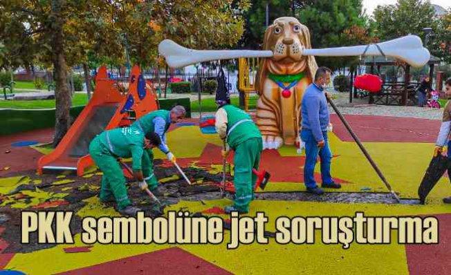 Çocuk parkına PKK sembolü | 2 müdür görevden alındı