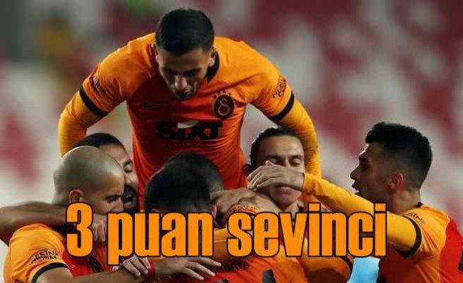 Galatasaray Sivas deplasmanından 3 puanla dünüyor