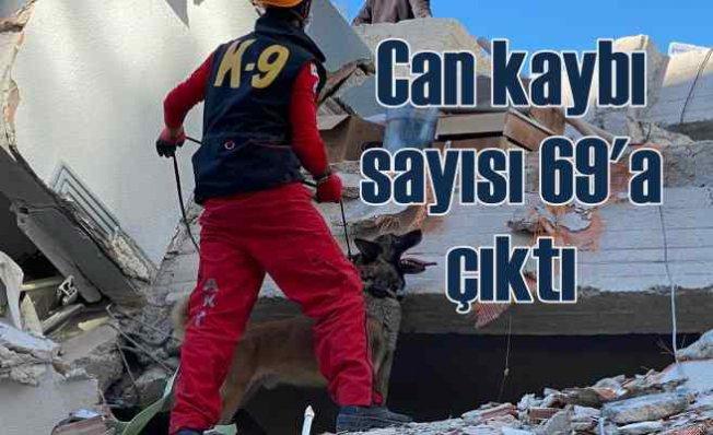 İzmir'de deprem | Can kaybı 69'a ulaştı | Zamana karşı yarış sürüyor