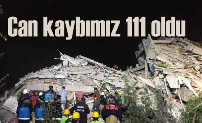 İzmir depremi, can kaybı 111'e yükseldi