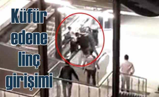Marmaray'da görevli kadına küfür edene linç girişimi