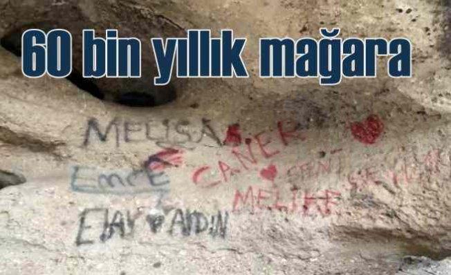 Tekkeköy Mağaraları | 60 bin yıllık mağarayı aşk yazıları ve pislikle doldurmuşlar