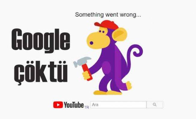 Youtube, Gmail çalışmıyor   Google'da küresel çökme