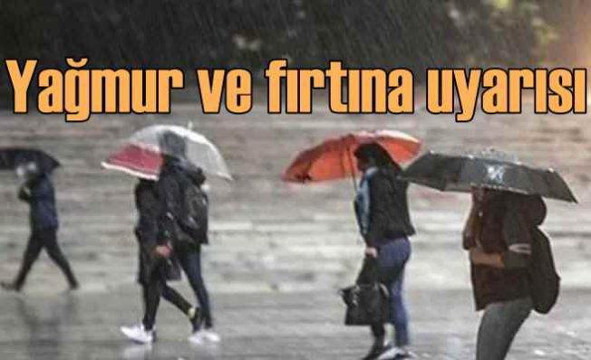 Bugün hava nasıl olacak   Yağmur ve fırtına geliyor