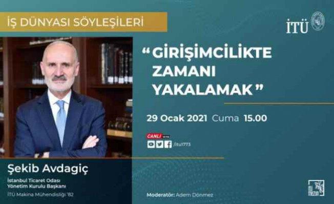 İTO Başkanı Şekib Avdagiç İTÜ'nün konuğu oldu