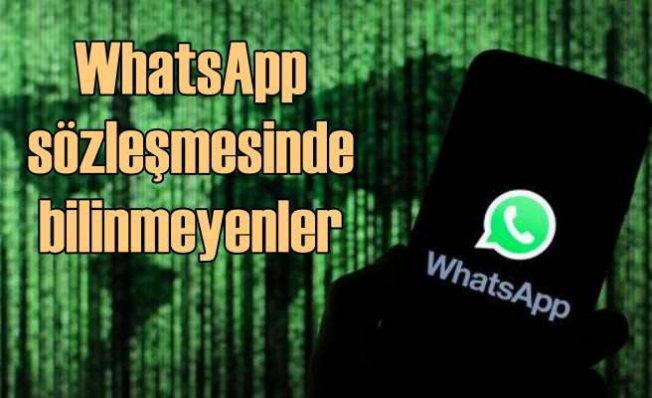 WhatsApp sözleşmesinin bilinmeyen yönleri