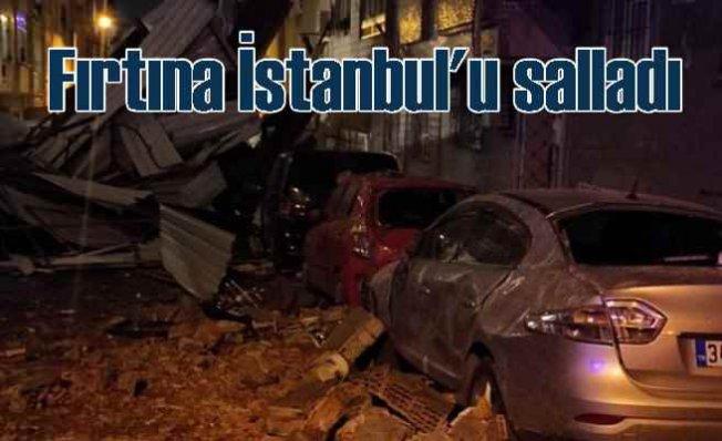 Fırtına İstanbul ve Trakya'yı vurdu, çatıları uçurdu