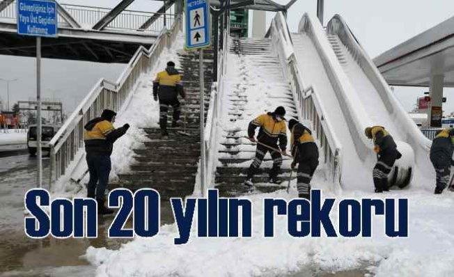 İstanbul'da kar kalınlığı rekoru | 30 cm'ye kadar çıktı